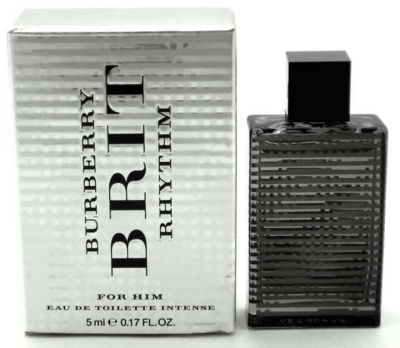 Burberry - Burberry Brit Rhythm Intense EDT 5 ML (5ml) Men Perfume (Original)