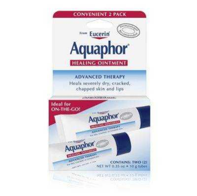 Eucerin - Eucerin Aquaphor Healing Ointment For Dry Cracked Chapped Skin and Lips 2 x 0.35 oz