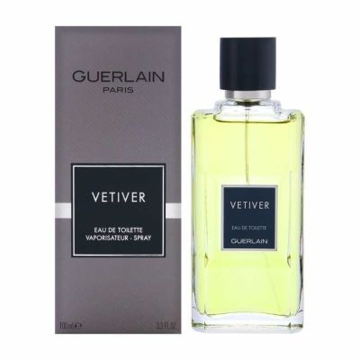 Guerlain - Guerlain Vetiver Guerlain EDT 100 ML (3.4oz) Men Perfume (Original)
