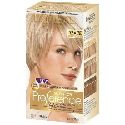 L'Oreal - LOreal Superior Preference Fade-Defying Color 9.5A Lightest Ash Blonde - Cooler 1 Application