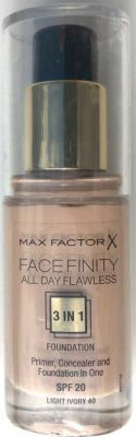 Max Factor - Max Factor Facefinity All Day Flawless 3 In 1 Foundation SPF 20 - 40 Light Ivory 30 ml