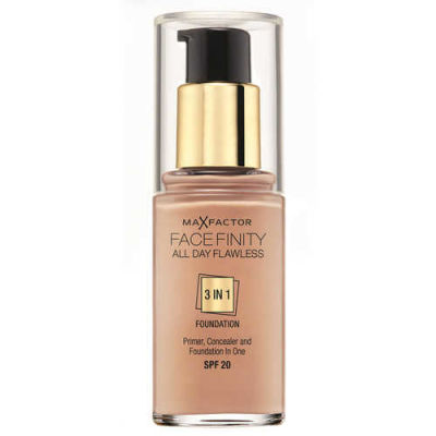 Max Factor - Max Factor Facefinity All Day Flawless 3 In 1 Foundation SPF 20 - 45 Warm Almond 30 ml