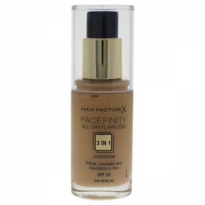 Max Factor - Max Factor Facefinity All Day Flawless 3 In 1 Foundation SPF20 - 63 Sun Beige 30 ml