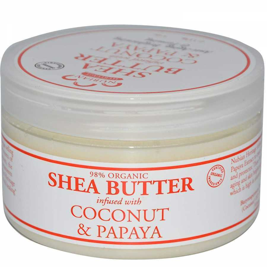 Nubian Heritage Coconut & Papaya Infused Shea Butter Polishing & Renewing 4 oz
