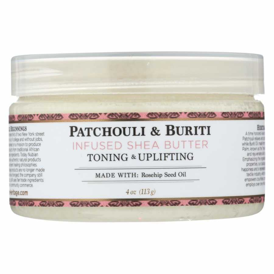 Nubian Heritage Patchouli & Buriti Infused Shea Butter Toning & Uplifting 4 oz