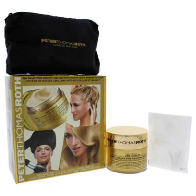 Peter Thomas Roth - Peter Thomas Roth 24K Gold Pure Luxury Age-Defying Hair Mask & Bonnet System 1 Pc Kit