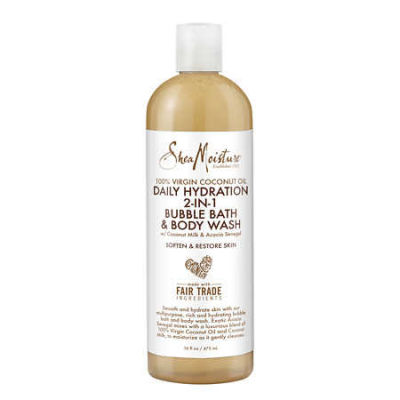 Shea Moisture - Shea Moisture 100 Percent Virgin Coconut Oil Daily Hydration 2-In-1 Bubble Bath and Body Wash 16 oz