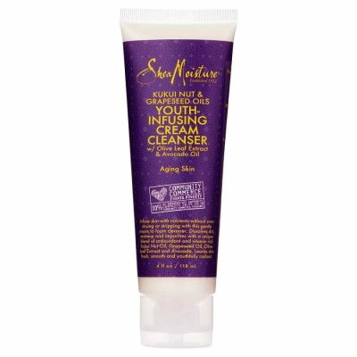 Shea Moisture - Shea Moisture Kukui Nut & Grapeseed Oils Youth-Infusing Cream Cleanser 4 oz