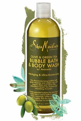 Shea Moisture - Shea Moisture Olive & Green Tea Bubble Bath Body Wash Anti-Aging & Ultra-Moisturzing 16 oz