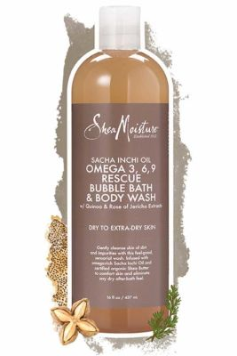 Shea Moisture - Shea Moisture Sacha Inchi Oil Omega-3-6-9 Rescue Bubble Bath & Body Wash 16 oz